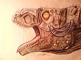 Cyborg Tyrannosaurus by Faithodon
