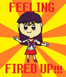 Sailor Mars (fired up) by MagiMew