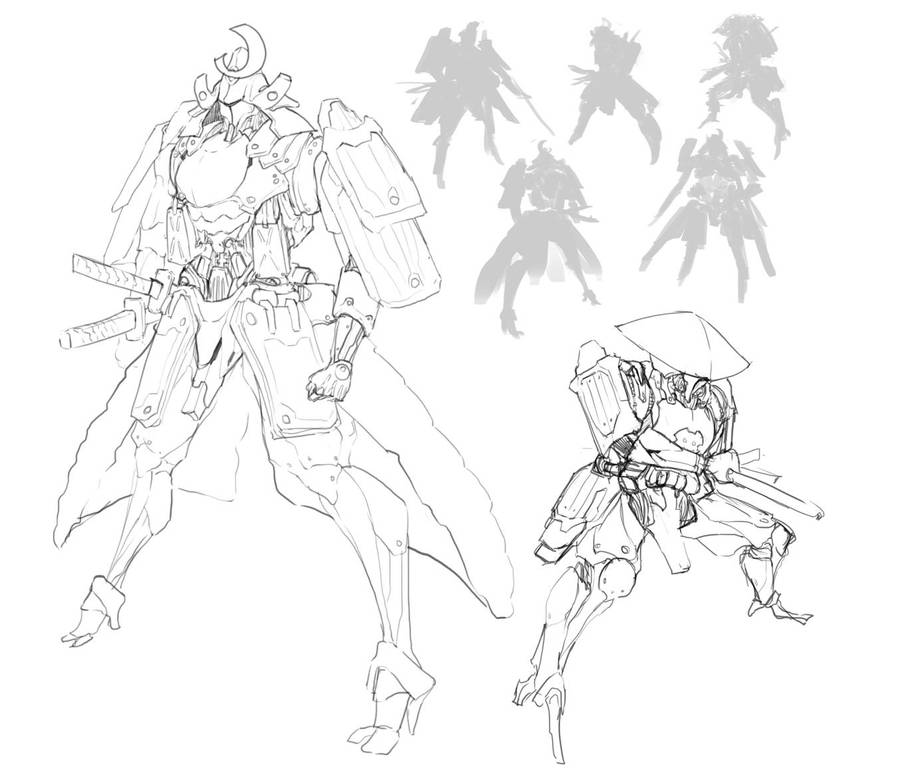 Samurai Mech Concept Sketch By Doghateburger On Deviantart