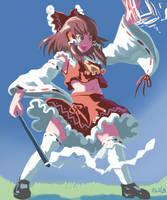 Combative Miko by ProfitShame