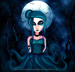 Full Moon Lady by morbidillusion666