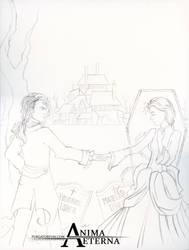 Roderick and Madeline Usher - Sketch by AnimaEterna