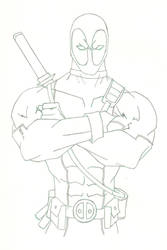 Deadpool Sketch by HiringHenchmen