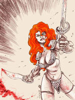 Red Sonja by dichiara