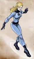 Sketching Invisible Woman by dichiara