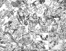 Teen Titans sample Double page 4. by dichiara