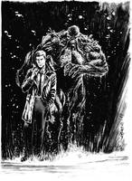 Swamp Thing and Constantine commission. by dichiara