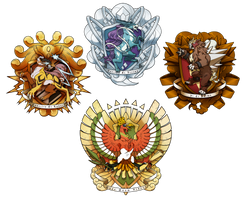 Commission - Pokemon House Crests by junijwi