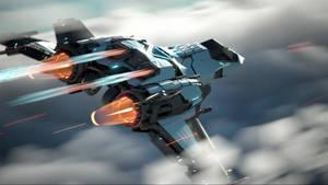 Moonhawk-1 exhausts heat by wanoco4D