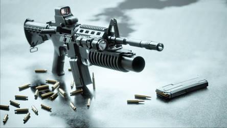 Gun Assaultrifle M4A1 by wanoco4D