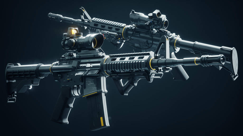 Cyberpunk M4A1 (Yellow) by wanoco4D