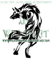 Tribal Set - Alert Wolf Design by WildSpiritWolf
