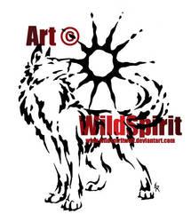 Proud Sun Wolf Splatter Tattoo by WildSpiritWolf