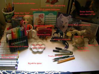 My Desk by WildSpiritWolf