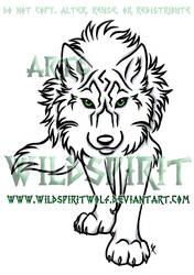 Stalking She-Wolf Tattoo by WildSpiritWolf