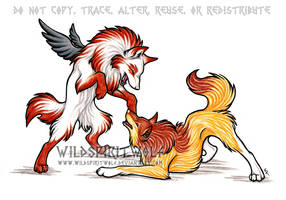 Asa And Ulva Wolf Commission by WildSpiritWolf