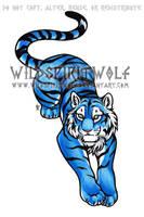 Blue Tiger Copic Tattoo by WildSpiritWolf