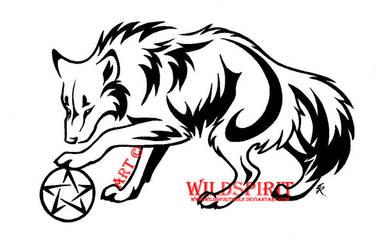 Pentacle Wolf Tattoo by WildSpiritWolf