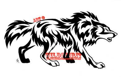 Aggressive Wolf Tribal Set 2 by WildSpiritWolf