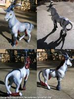 Hazahn Fantasy Horse Sculpture by WildSpiritWolf