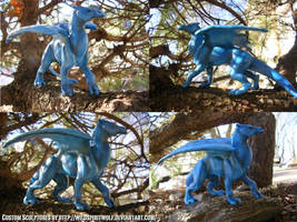 Acediath Dragon Sculpture by WildSpiritWolf