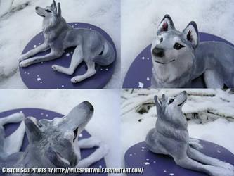 Wolf Topper Sculpture by WildSpiritWolf