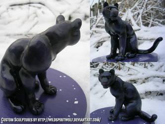 Panther Topper Sculpture by WildSpiritWolf