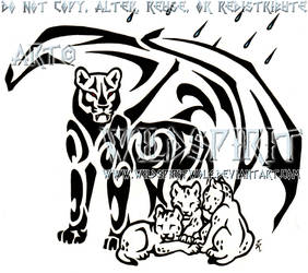 Demon Lioness And Cubs Tattoo by WildSpiritWolf