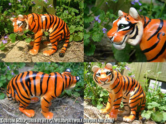 Kchan Tiger Sculpture by WildSpiritWolf