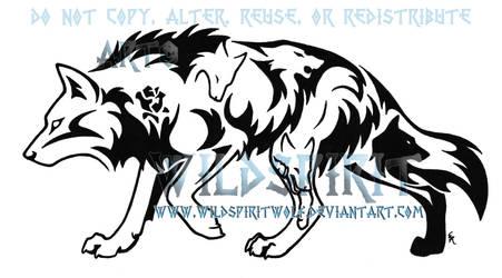 Walking Emotion Wolf Tattoo by WildSpiritWolf