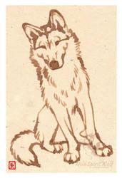 Aria Greenland Dog Coffee Art by WildSpiritWolf