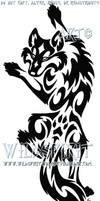 Climbing Tribal Wolf Tattoo by WildSpiritWolf