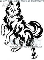 Grinning Wise Wolf Tattoo by WildSpiritWolf