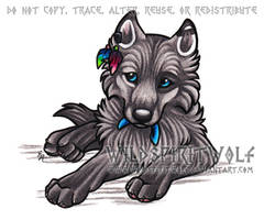 Mukluk Wolf Pup - Commish by WildSpiritWolf