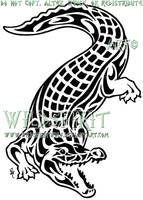 Saltwater Crocodile Tattoo by WildSpiritWolf