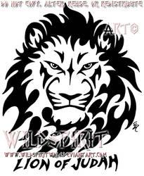 Lion Of Judah Bust Tattoo by WildSpiritWolf
