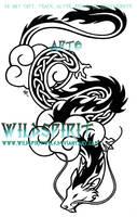 Celtic Cloud Dragon Tattoo by WildSpiritWolf