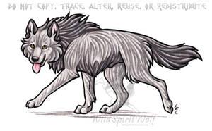 Strider Wolf Commission by WildSpiritWolf
