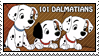 101 Dalmatians Puppies Stamp by WildSpiritWolf