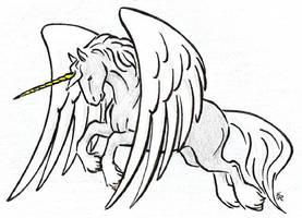 Unicorn In Flight by WildSpiritWolf
