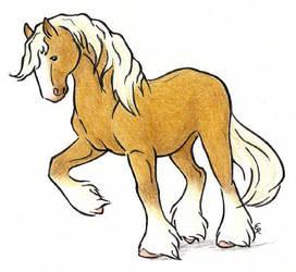 Caramel Draft Horse by WildSpiritWolf