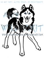 Meeka Husky Tattoo by WildSpiritWolf
