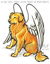Golden Retriever Dog Memorial by WildSpiritWolf