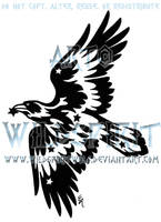 Starry Tribal Raven Tattoo by WildSpiritWolf