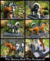 Snowy And The Huskywolf Sculpt by WildSpiritWolf