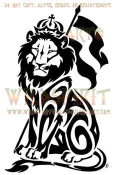 Sitting Lion Of Judah Tattoo by WildSpiritWolf