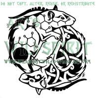 Yin Yang Rats Tattoo by WildSpiritWolf