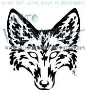 Water Fox Head Tattoo by WildSpiritWolf