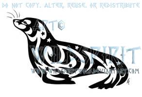 Starry Seal Tribal Tattoo by WildSpiritWolf