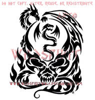 Dragon Crystal Skull Tattoo by WildSpiritWolf
